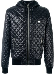 Dolce And Gabbana Quilted Padded Jacket Black