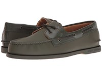Sperry A O 2 Eye Storm Olive Men's Lace Up Moc Toe Shoes