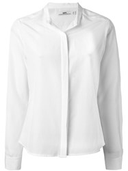 Hope Band Collar Shirt White