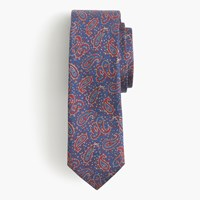 J.Crew English Silk Tie In Paisley Authentic Blue