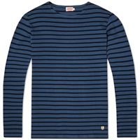 Armor Lux 2297 Long Sleeve Mariniere Heritage Tee Storm And Rich Navy