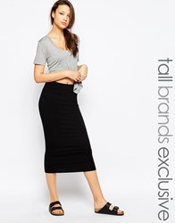 Taller Than Your Average Ttya Midi Tube Skirt Black