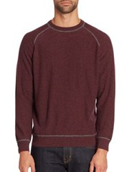 Luciano Barbera Raglan Sleeve Cashmere And Wool Sweater Dark Red