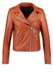 Mbym Vibes Leather Jacket Whisky Cognac