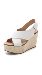 Steven Genesis Wedge Sandals White