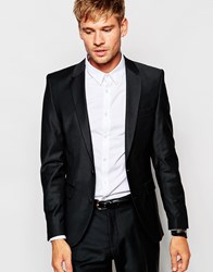 Selected Homme Travel Suit Jacket With Stretch In Slim Fit Black