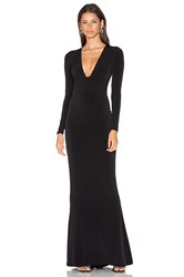 Nookie Cherish Long Sleeve Maxi Dress Black