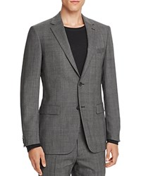 Theory Charde Large Plaid Slim Fit Sport Coat Charcoal