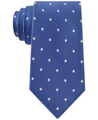 Club Room Men's Texture Dot Tie Only At Macy's Royal Blue