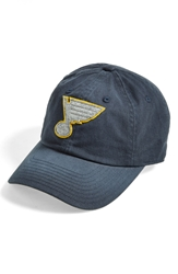 American Needle 'St. Louis Blues Luther' Snapback Cap Navy Yellow