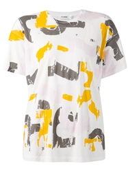 Jil Sander Abstract Print T Shirt White