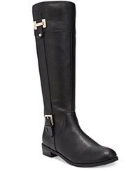 Karen Scott Deliee Wide Calf Riding Boots Only At Macy's Women's Shoes Black Pu