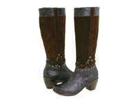 Naot Footwear Gratify Black Pearl Leather Hash Suede Women's Zip Boots Gray