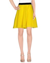 Space Style Concept Skirts Knee Length Skirts Women Yellow