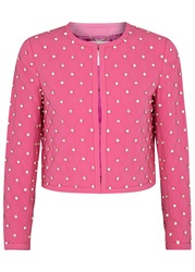 Moschino Hot Pink Quilted Twill Jacket