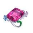 Anna Hu Haute Joaillerie Butterfly Garden Collection Butterfly Garden Ring In Rubellite Pink