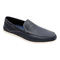 Rockport Cape Noble Three Venetian Loafers Navy