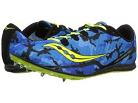 Saucony Vendetta Blue Citron Men's Running Shoes Green