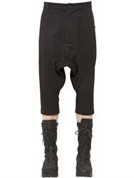 Alexandre Plokhov Cropped Wool And Cotton Blend Pants