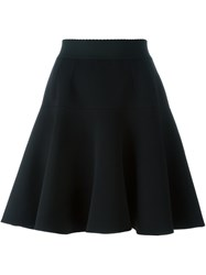 Dolce And Gabbana A Line Pleated Skirt Black