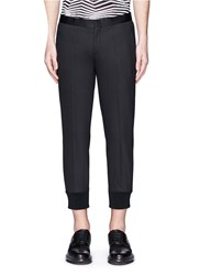 Neil Barrett Satin Tuxedo Stripe Skinny Fit Pants Black