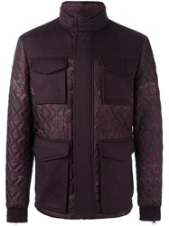 Etro Quilted Sahariana Jacket Pink Purple