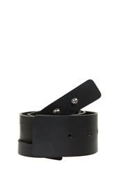 Andrew Gn Leather Twist Belt Black