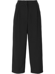Iceberg Side Zip Cropped Trousers Black