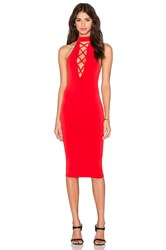 Nookie Tropicana High Neck Dress Red