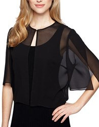 Alex Evenings Plus Sheer Bolero Black