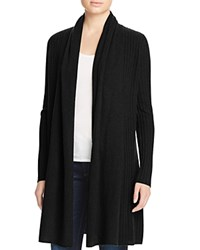 Bloomingdale's C By Ribbed Cashmere Cardigan Black