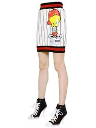 Moschino Tweety Printed Jersey Skirt