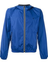 Fay Hooded Zip Jacket Blue