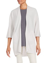 Inhabit Cashmere Open Front Cardigan Moonbeam