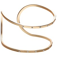 John Lewis Double Diamante Cut Out Cuff Gold