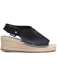 Rag And Bone 'Sienna' Peep Toe Espadrilles Black