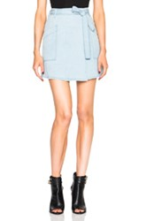 Maison Martin Margiela Mm6 Maison Margiela Denim Mini Skirt In Blue