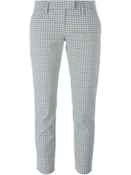 Dondup Graphic Print Trousers Blue