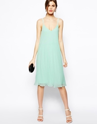 Asos Cami Swing Dress With Pleats Mint