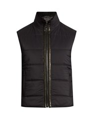 Belstaff Fyfield Shearling Collar Quilted Gilet Black