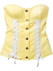 Love Moschino Lace Up Corset Yellow And Orange