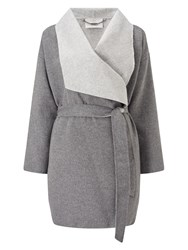 Jacques Vert Double Faced Coat Grey