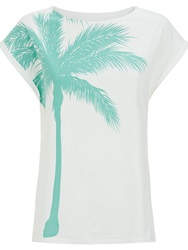 People Tree Palm Tree Tee Blue