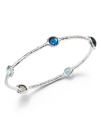 Ippolita Sterling Silver Rock Candy Wonderland Bangle In Merino Silver Blue