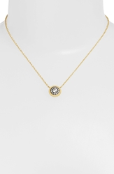 Freida Rothman 'Hamptons' Nautical Button Pendant Necklace Gold Gunmetal