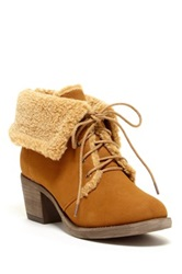 Bucco Damari Faux Fur Foldover Bootie Brown