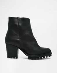 Swear Rosin Cleated Heeled Ankle Boots Blacksuede