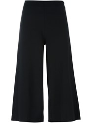 Michael Michael Kors Wide Legged Cropped Trousers Black