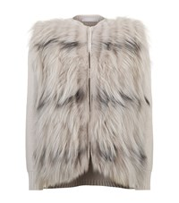 Fabiana Filippi Fox Fur Jacket Female Neutral