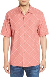 Tommy Bahama Men's 'Rhumba Dobby' Original Fit Short Sleeve Sport Shirt Shellrossa